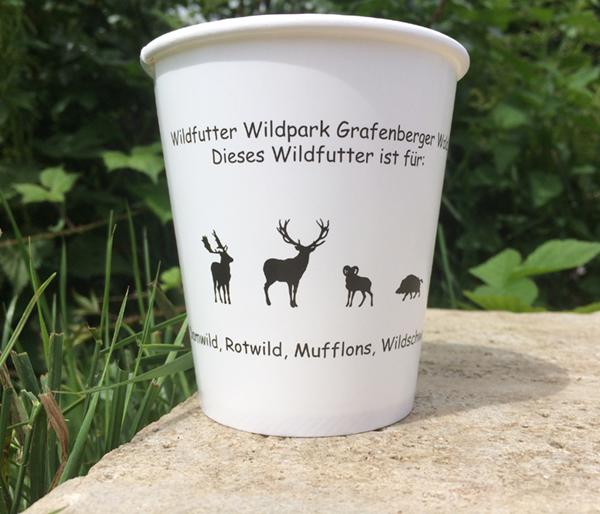Futterbecher im Wildpark Düsseldorf